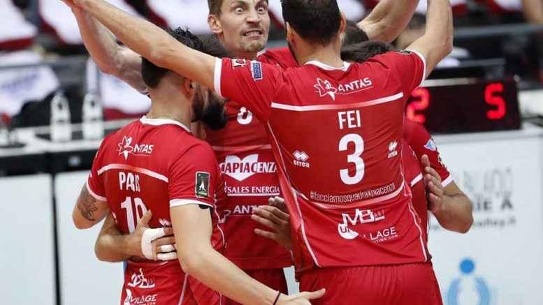 Gasa Sales Volley Piacenza Yudin esultanza
