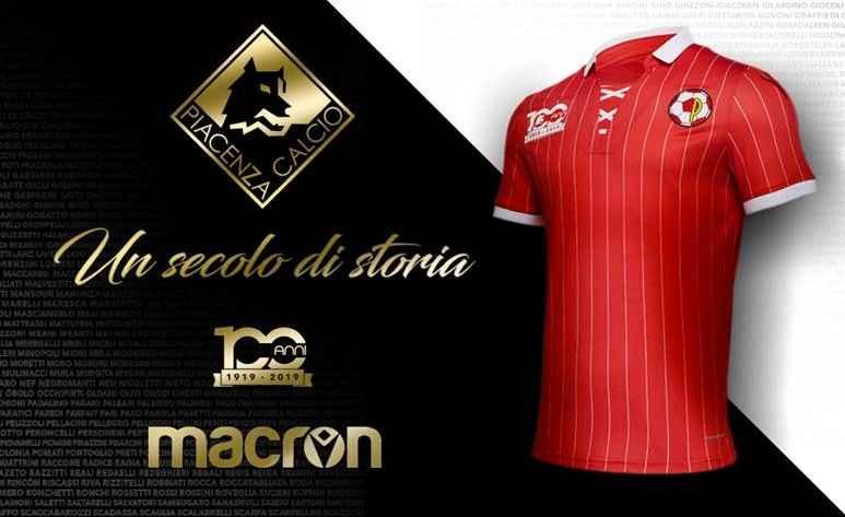 Maglia centenario Piacenza Calcio