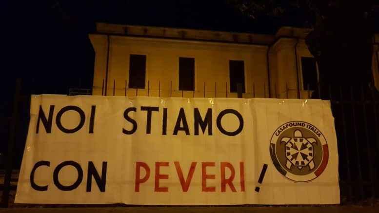 CasaPound esprime solidarietà e vicinanza ad Angelo Peveri