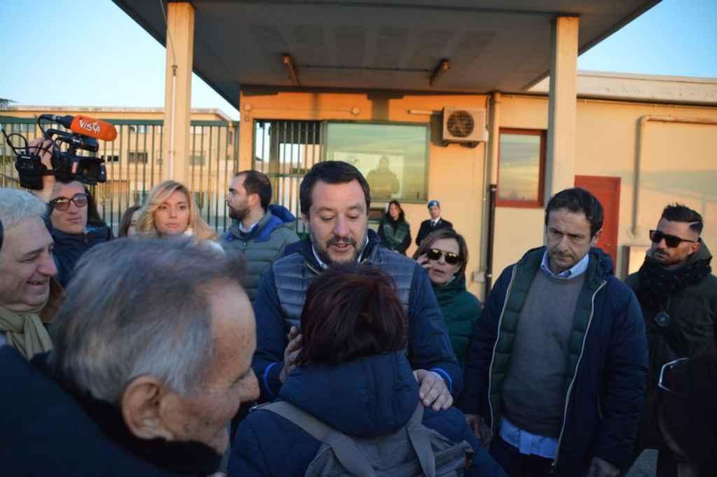 Salvini e l'incontro in carcere con Peveri