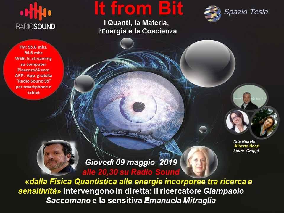 """It From Bit, """"Interazioni tra Fisica Quantistica - Energie Incorporee e Sensitività"""""""