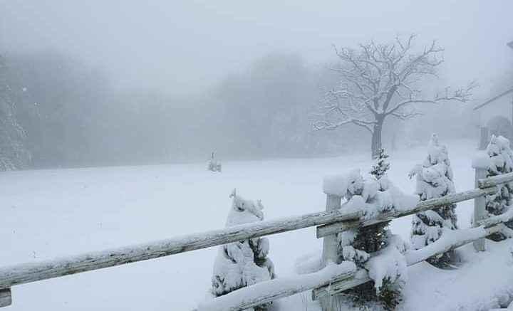 Prima nevicata della stagione nel piacentino