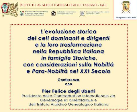 """Conferenza """"L'evoluzione storica dei ceti dominanti e dirigenti"""", a Piacenza"""