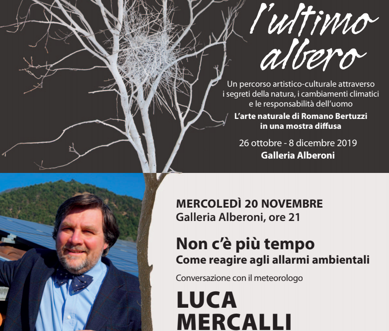 Allarmi ambientali, Luca Mercalli alla Galleria Alberoni di Piacenza
