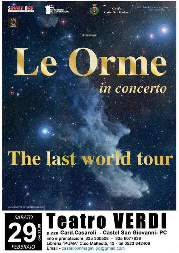 Le Orme, l'ultimo tour passa dal Teatro Verdi di Castel San Giovanni il 29 febbraio