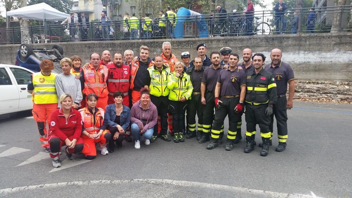 Maxi emergenza sanitaria, a Sarmato esercitazione con professionisti e volontari