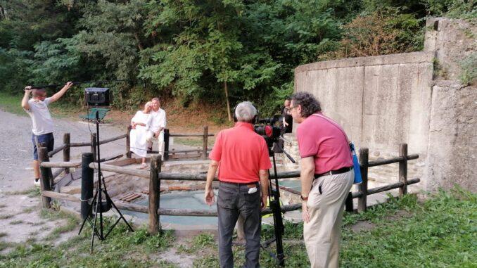 """Le riprese del film """"La Strega di Baratti"""" a Bobbio"""