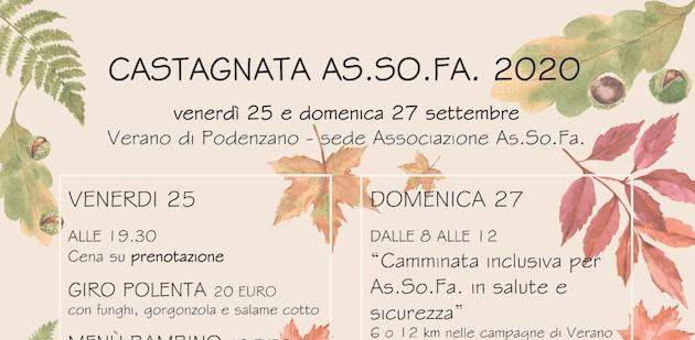 Castagnata AS.SO.FA. 2020 a Verano di Podenzano
