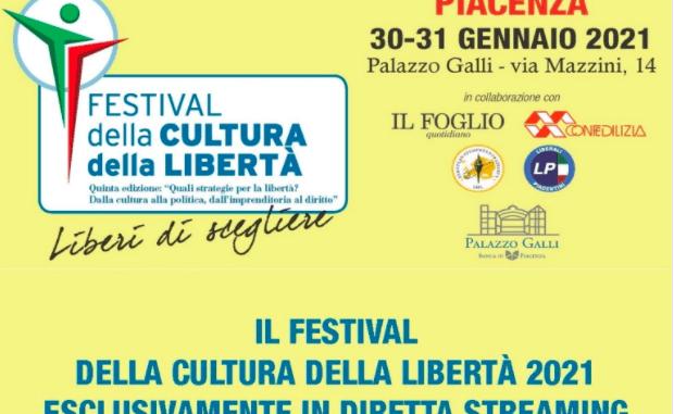 Festival della cultura della libertà 2021 in diretta streaming il 30 e 31 gennaio. Venerdì l'anteprima dell'evento
