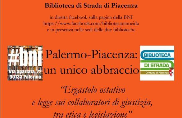 serate di Cultura Antimafiosa: Palermo - Piacenza: un unico abbraccio. Il 29 giugno alla Biblioteca di Strada