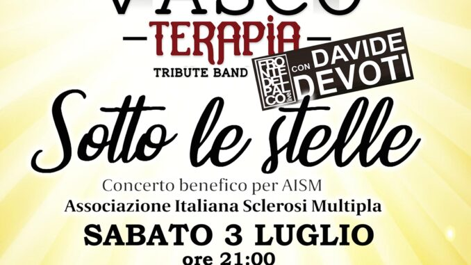 """""""Vascoterapia"""", concerto per Aism il 3 luglio al parco di Villa Braghieri di Castel San Giovanni"""