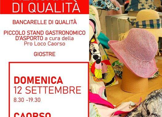 Il 12 settembre i Mercanti di Qualità a Caorso portano la moda dell'autunno e le ultime occasioni estive