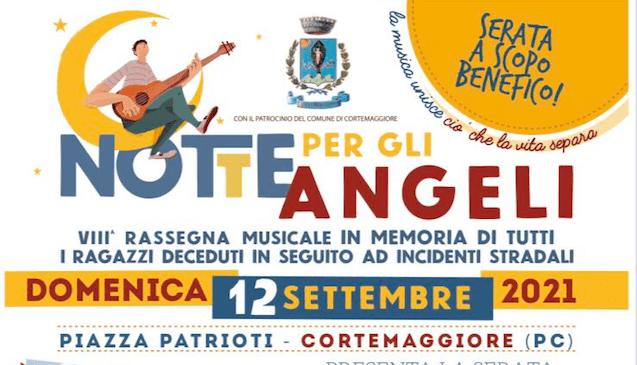 """Maratona di artisti il 12 settembre per """"La Notte per gli Angeli"""" di Cortemaggiore"""