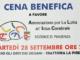 Cena Benefica a favore dell'Associazione per la Lotta all'Ictus Celebrale il 28 settembre. Ospiti I Cani Della Biscia