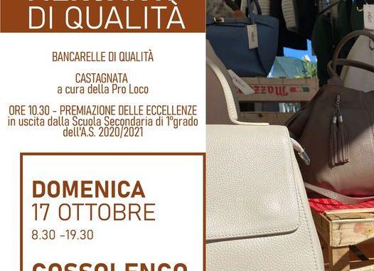 Shopping d'autunno con i Mercanti di Qualità e Castagnata a Gossolengo il 17 ottobre