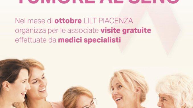 Piacenza si colora di rosa in ottobre per la campagna della Lilt